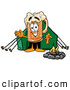 Stock Mascot Cartoon of a Friendly Beer Mug Mascot Cartoon Character Camping with a Tent and Fire by Toons4Biz