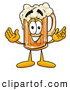 Stock Mascot Cartoon of a Friendly Beer Mug Mascot Cartoon Character with Welcoming Open Arms by Toons4Biz