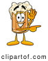 Stock Mascot Cartoon of a Frothy Beer Mug Mascot Cartoon Character Waving and Pointing by Toons4Biz
