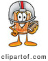 Stock Mascot Cartoon of a Grinning Beer Mug Mascot Cartoon Character in a Helmet, Holding a Football by Toons4Biz