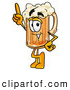 Stock Mascot Cartoon of a Happy Beer Mug Mascot Cartoon Character Pointing Upwards by Toons4Biz