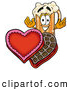 Stock Mascot Cartoon of a Happy Beer Mug Mascot Cartoon Character with an Open Box of Valentines Day Chocolate Candies by Toons4Biz