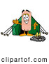 Stock Mascot Cartoon of a Sporty Bandaid Bandage Mascot Cartoon Character Camping with a Tent and Fire by Toons4Biz