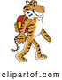 Stock Vector Mascot Cartoon of a Tiger Character Walking to School by Toons4Biz