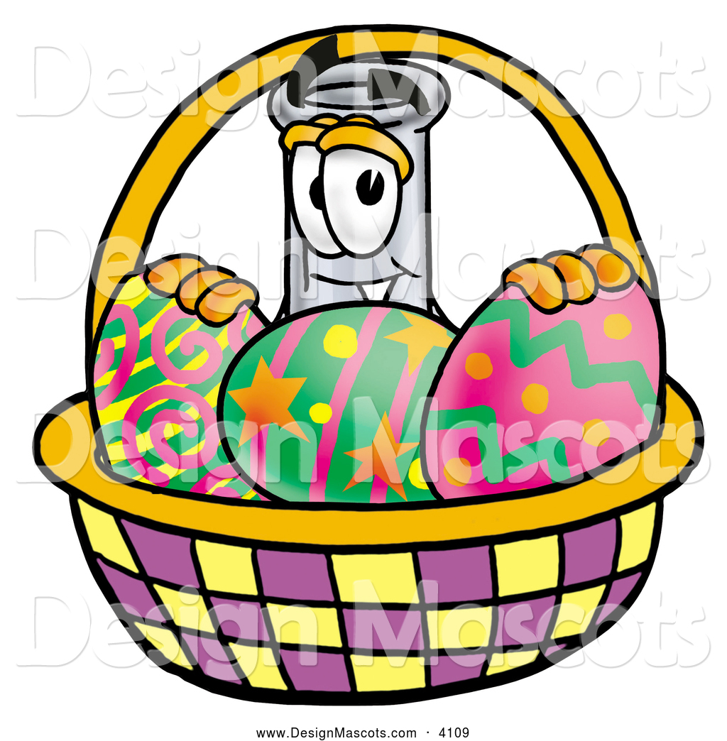 Cartoon Characters Easter Baskets : Royalty free decorated egg stock mascot designs