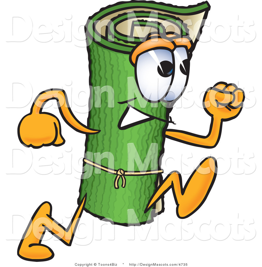 Cartoon Characters Running : Royalty free stock mascot designs of carpet cartoon characters